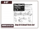 Stug III G Detail Parts Set