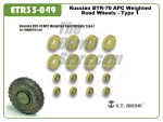 Russian BTR-70 APC Weighted Road Wheels - Type 1