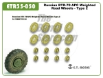 Russian BTR-70 APC Weighted Road Wheels  - Type 2