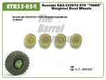 "Russian GAZ-233014 STS ""TIGER"" Weighted Road Wheels"