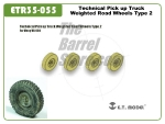 Technical Pick up Truck Weighted Road Wheels - Type 2