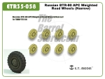 Russian BTR-80 APC Weighted Road Wheels (Narrow)