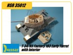 T-34/85 1944 FACTORY 183 EARLY TURRET WITH INTERIOR AND ABER PE