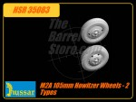 M2A 105mm HOWITZER Wheels - 2 Types