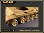 Burnt out Wheels for T-55/62 Tanks