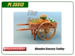 Wooden Grocery Trolley