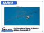 Aerial and Aerial Mount for Modern Military Vehicles CV-90